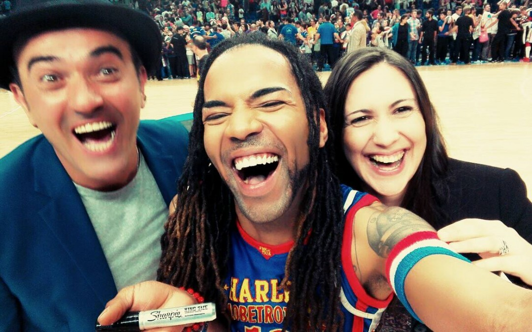 ¡CON LOS HARLEM GLOBETROTTERS!